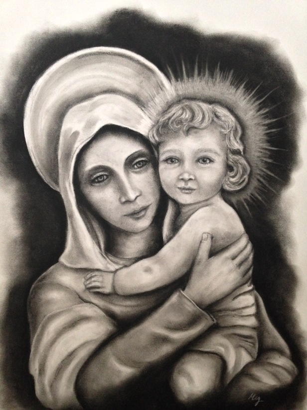 """Our Lady of Wisdom"" 18x24"
