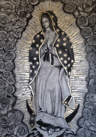 """Our Lady of Guadeloupe"" with Gold Leaf"